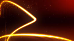 Dynamic Golden Particle Motion Video CG動画素材