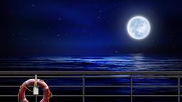 Moon on the sea CG動画素材