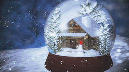 Christmas Snow Globe with Snowfall Animation