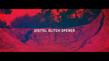 Digital Glitch Opener After Effects Template