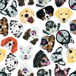 Illustration seamless Pattern Dogs ベクター