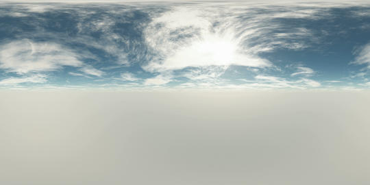 VR 360 degree Panoramic Sky and Clouds. ready for use in 3D environment VR 360° Video