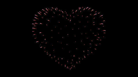 Firework of the Heart 01 Stock Video Footage