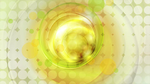 Abstract yellow and green circles video animation Animation