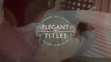 9 Elegant Film Titles Motion Graphics Template