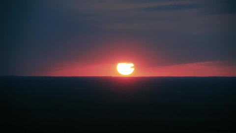 sun sets over the horizon sunset Footage