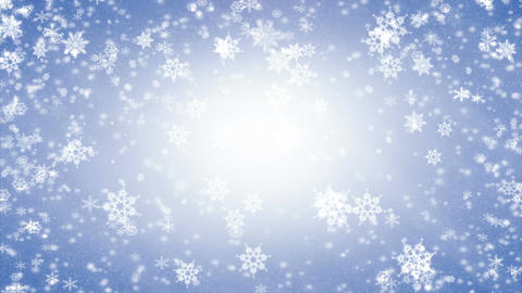 Snowflakes falling and icicles, frosty day, winter snow scene with snowfall Animation