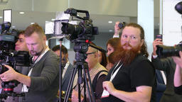 Television operators during the filming of the event Footage