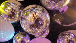 Disco Balls in Night Club. 4K Footage