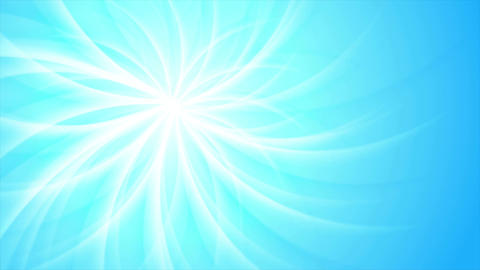 Blue shiny swirl beams abstract video animation Animation