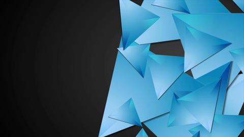Blue polygonal shapes on black background motion design Animation