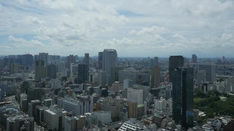 High angle timelapse of business and residential areas of central Tokyo Footage
