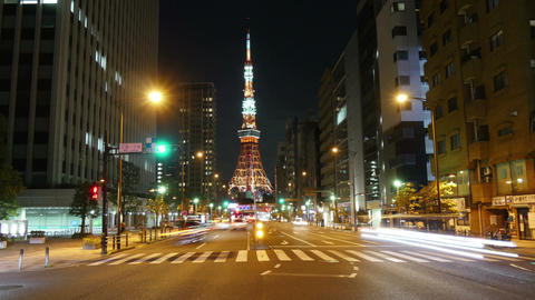 Tokyo Tower light up moment Image