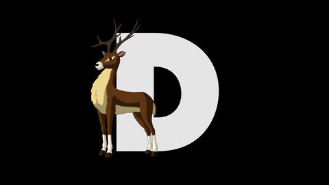 Letter D and Deer (foreground) Animation