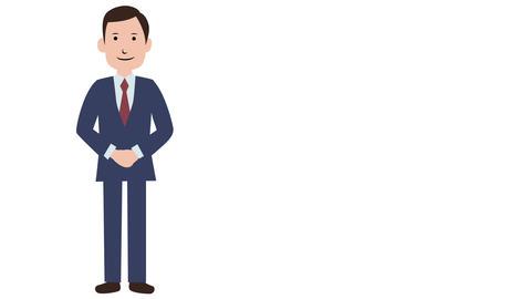 男性 プレゼン アニメーション 動画素材, ムービー映像素材
