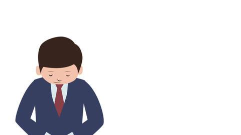 男性 プレゼン アニメーション CG動画素材