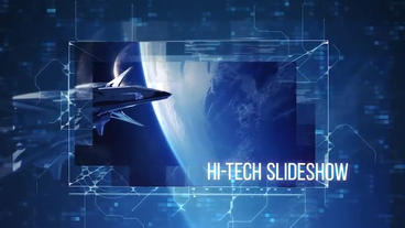 Advanced Hi-tech Slideshow After Effects Template