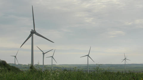 Clean and Renewable Energy, Wind Power, Turbine, Windmill, Energy Production Live Action