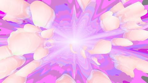 花びら爆発 CG動画素材