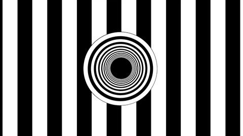 Abstract Black and White stripes. 3d rendering seamless loop Live Action