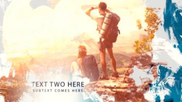 Painted Slideshow After Effects Template