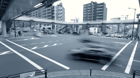 intersection, walking, traffic jam, Office worker, Businessman, Attendance, ビデオ