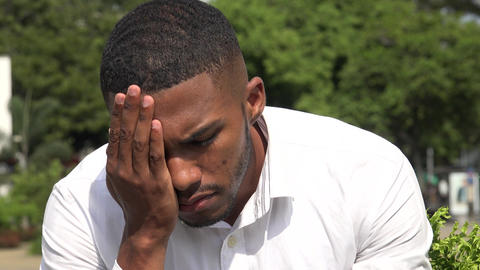 Sad Black Man Live Action
