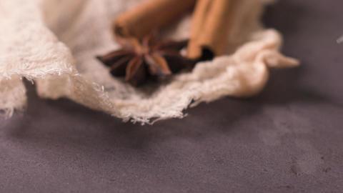 Close up of cinnamon sticks Footage