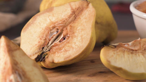 Quince fruits and marmalade Footage