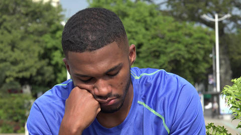 Tired Or Confused Black Male Athlete Live Action