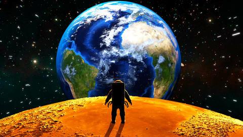 Astronaut on the moon. 3D animation Animation