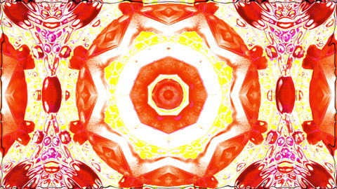 Colorful Kaleidoscope Video. 3D Rendering Animation