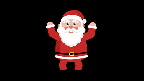 Santa Sends Greetings. Loopable animation Animation