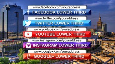 Clean social media lower third pack After Effects Templates