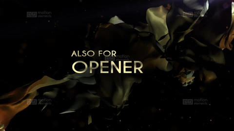Golden Titles on the Silk Background Plantilla de After Effects