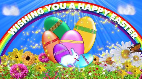 EASTER CARD CG動画素材