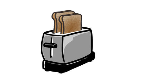 Toaster pops Animation