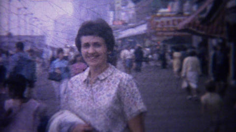 1962: Family visits world famous boardwalk commercial stores Footage