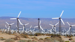 Windmills in Palm Springs Footage