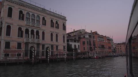Venice Full Moon Canal From Gondola 4K stock footage