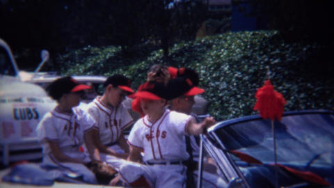1972: Reds little league baseball team bully takes nerds hat Footage