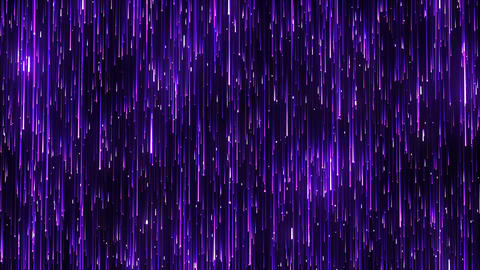 Purple Particles Glitter Glamour Christmas Background 4K Falling Light Streaks CG動画素材