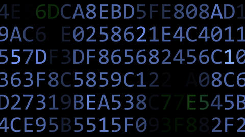 Facebook logo made of flashing hexadecimal symbols on computer screen. Editorial Live Action