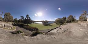 Botanical Gardens overlooking Sydney Harbour Bridge 360 standing height VR 360° Video