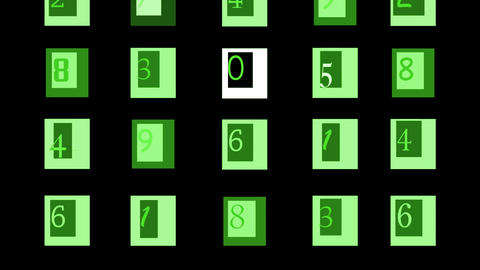 Green photoshop numbers Stock Video Footage