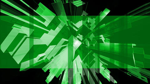 Sharp abstract green banner Live Action