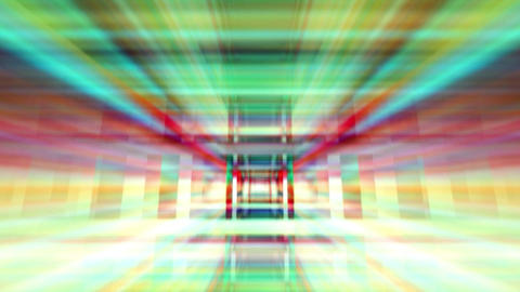 Traveling through a maze of refracted light loop Footage