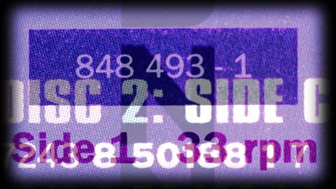 Vinyl graphics Footage