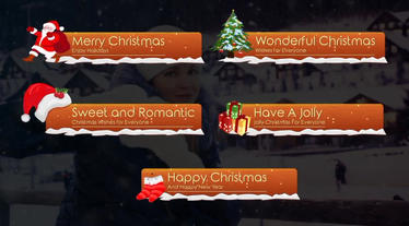 Christmas Lower Thirds After Effects Templates