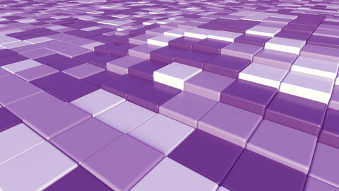 Moving purple square bricks motion background, seamless loop Footage
